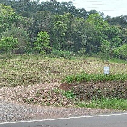 Amplo terreno com frente para a BR 116 em Picada Café na serra gaúcha